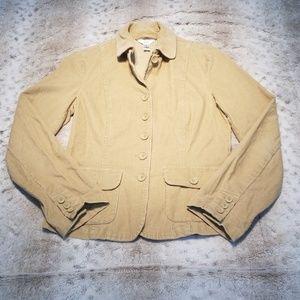 Talbots Stretch Tan Corduroy Blazer Size 6